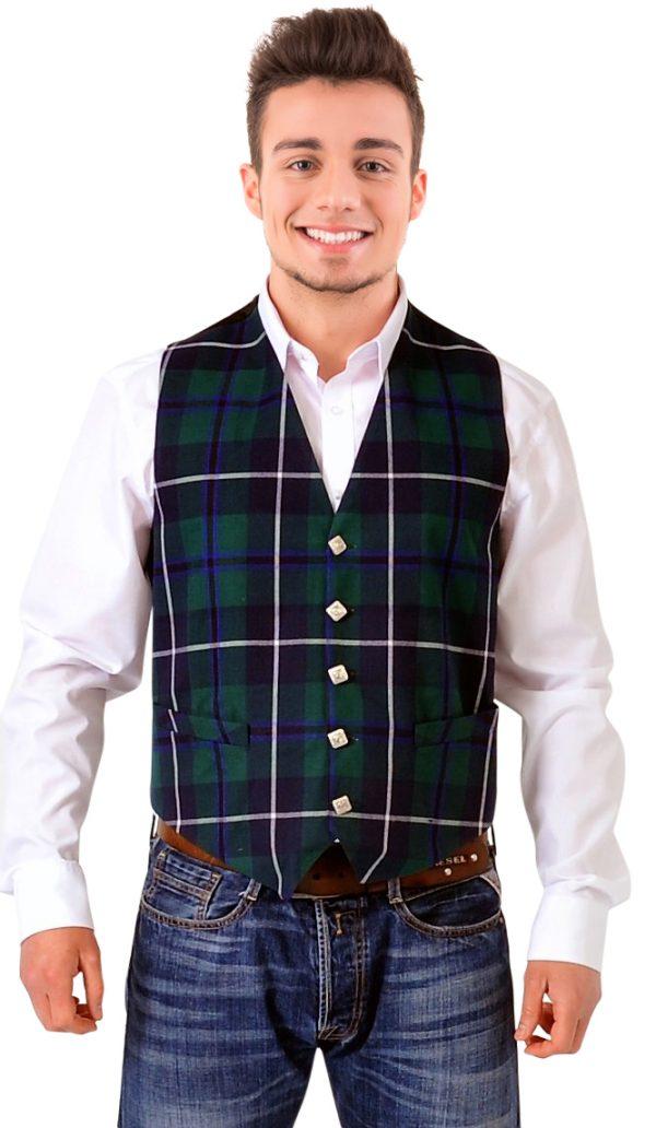 Douglas tartan waistcoat