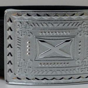 Special offer Set Embossed Belt & Saltire Buckle