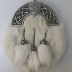 New Antique Celtic Shield White Rabbit Sporran
