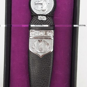 Chrome Lion Rampart Gift Boxed Sgian Dubh