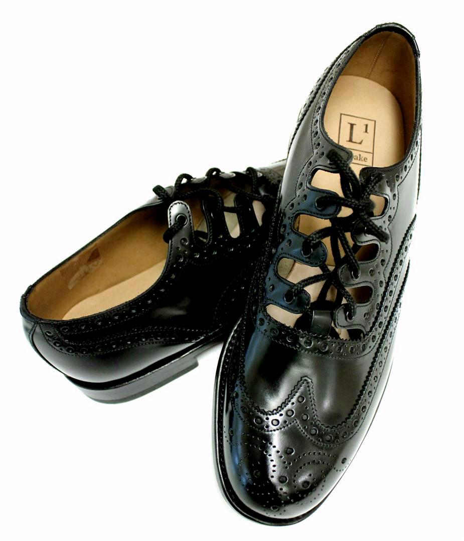 ex hire leather ghillie brogues Child kilt shoes