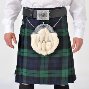 8 Yard Black Watch Wool Kilt
