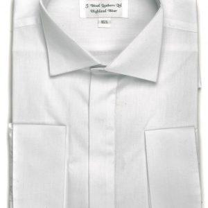 Splayed Victorian collar shirt WHITE
